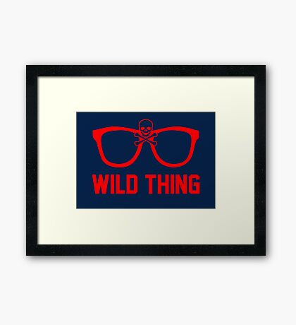 Wild Thing - For The Major League Indians Fan! Framed Print