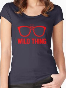 Wild Thing - For The Major League Indians Fan! Women's Fitted Scoop T-Shirt