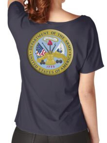 American Army, ARMY, ARMIES, USA, United States Army, Emblem of the United States, Department of the Army Women's Relaxed Fit T-Shirt