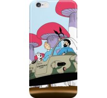 Going to visit the rabbit mob iPhone Case/Skin
