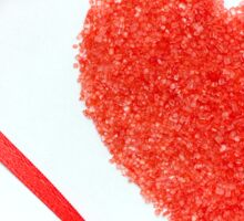 Sugar Sprinkles Heart and Red Ribbon Sticker