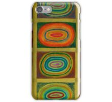 Ringed Ovals within Hatched Grid iPhone Case/Skin