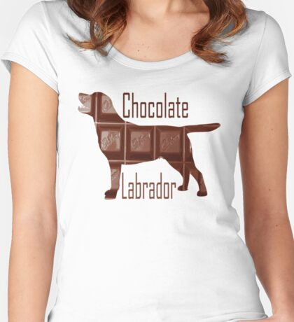 Chocolate Labrador Women's Fitted Scoop T-Shirt