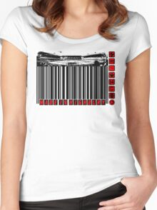 BARCODED IN HIGHBURY Women's Fitted Scoop T-Shirt