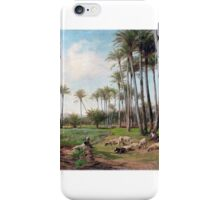 David Bates - An Oasis in the Desert . blue sky iPhone Case/Skin