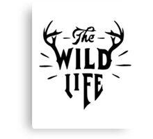The Wild Life - version 2 - Black Canvas Print