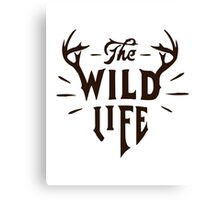 The Wild Life - version 4 - Brown Canvas Print