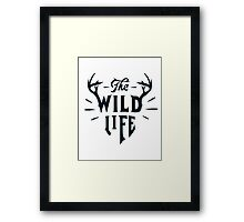 The Wild Life - version 5 - Dark blue / Navy Framed Print
