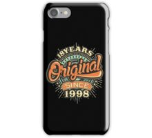 18 Years Original since 1998 - Birthday gift 18th iPhone Case/Skin