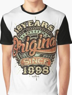 Used look 18th Birthday - Original since 1998 - Birthday gift Rahmenlos Graphic T-Shirt