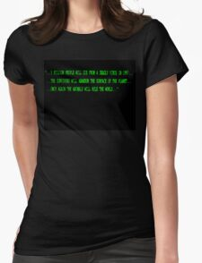 12 Monkeys Intro Screen Womens Fitted T-Shirt