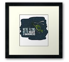 Flying into the heart of darkness Framed Print