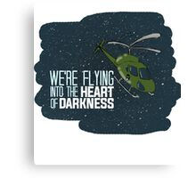 Flying into the heart of darkness Canvas Print