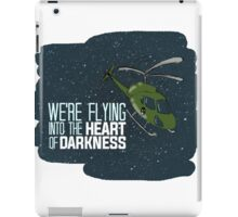 Flying into the heart of darkness iPad Case/Skin
