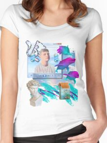Air World Vaporwave Aesthetics Women's Fitted Scoop T-Shirt