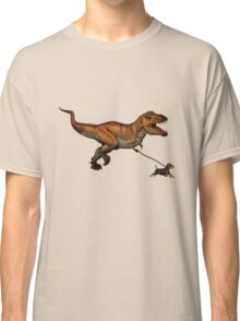 T Rex and his dog Classic T-Shirt