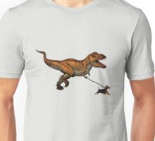 T Rex and his dog Unisex T-Shirt