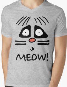 Ralph Wiggum Cat Mens V-Neck T-Shirt