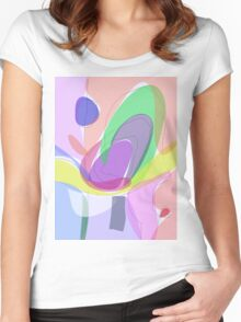 Philosophical Tree, Flower and Fruit Women's Fitted Scoop T-Shirt