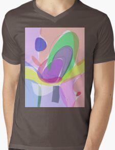 Philosophical Tree, Flower and Fruit Mens V-Neck T-Shirt