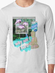 Buddha Vaporwave Aesthetics Long Sleeve T-Shirt