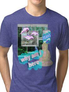 Buddha Vaporwave Aesthetics Tri-blend T-Shirt