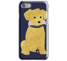 Cute Preppy Golden Retriever Puppy iPhone Case/Skin