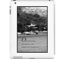 Catching opportunities iPad Case/Skin