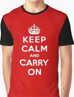 Keep Calm And Carry On Graphic T-Shirt