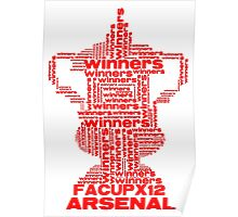 ARSENAL FA CUP WINNERS X 12 Poster