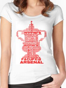 ARSENAL FA CUP WINNERS X 12 Women's Fitted Scoop T-Shirt