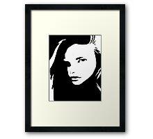 Graphic Girl Framed Print
