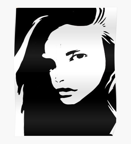 Graphic Girl Poster
