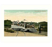 1900 Vintage Observation car Montreal Art Print