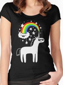 Cool Unicorn Women's Fitted Scoop T-Shirt