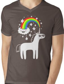 Cool Unicorn Mens V-Neck T-Shirt