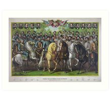 Prominent Civil War Union and Confederate Generals and Statesmen Art Print