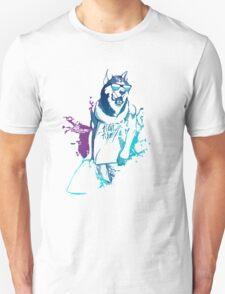 Cool Surfing Dog – Surfer Style Design Unisex T-Shirt