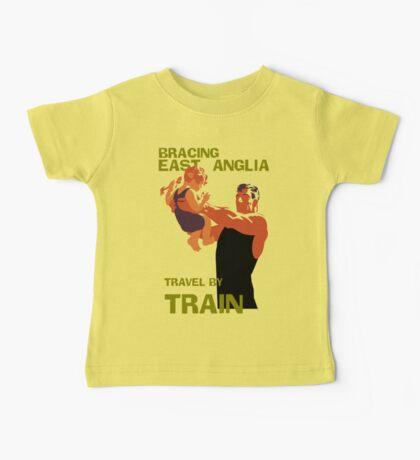 East Anglia England retro vintage travel by train advert Baby Tee