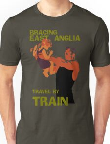 East Anglia England retro vintage travel by train advert Unisex T-Shirt