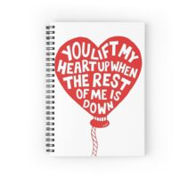 Quotes The Heart Spiral Notebook