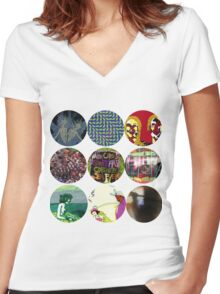 Animal Collective Albums Women's Fitted V-Neck T-Shirt