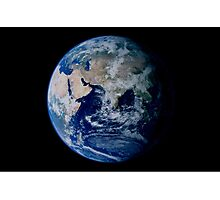 Earth from space showing eastern hemisphere. Photographic Print