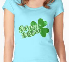 Get your irish on shamrock Women's Fitted Scoop T-Shirt