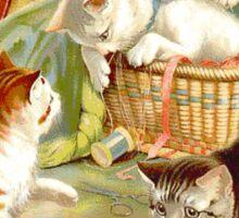Kittens Playing Sticker