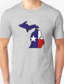 Texas flag Michigan outline Unisex T-Shirt