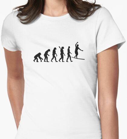 Evolution Slackline Womens Fitted T-Shirt