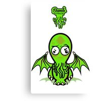 Dumb Cthulhu Canvas Print