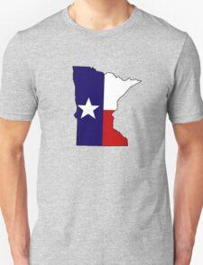Texas flag Minnesota outline Unisex T-Shirt