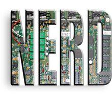 NERD Computer Motherboard Letters Metal Print